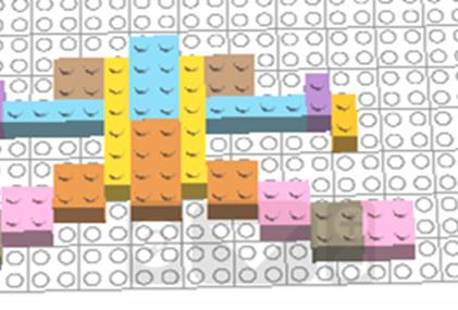 Лего – симметрия (вариант 2)